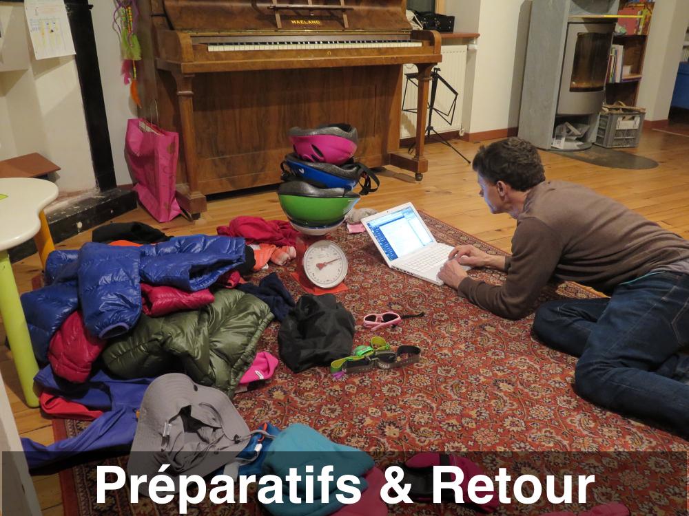 Articles sur les préparatifs et le retour
