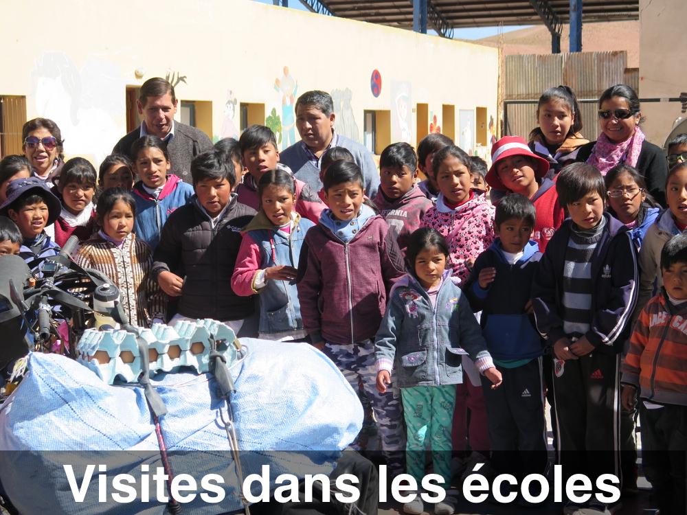 Les visites dans les écoles